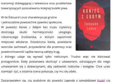 """CzytanieToPrzygoda.pl o """"Koniec z Eddym"""""""