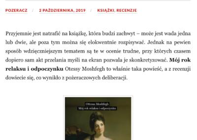 """Qbuś Pożera Książki o """"Mój rok relaksu i odpoczynku"""""""