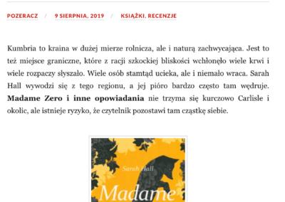 """Qbuś Pożera Książki o """"Madame Zero i inne opowiadania"""""""