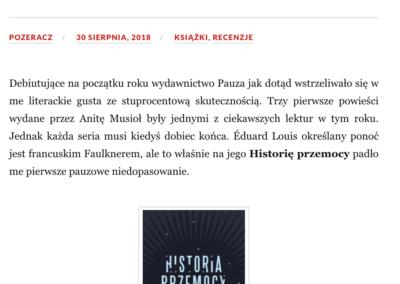 """Qbuś Pożera Książki o """"Historia przemocy"""""""