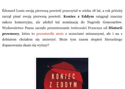 """Qbuś Pożera Książki o """"Koniec z Eddym"""""""