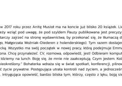 "Wolna droga o ""Linia"""