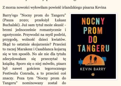 """Czytam, oglądam o """"Nocny prom do Tangeru"""""""