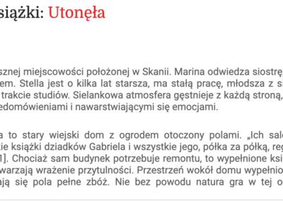 "Granice.pl o ""Utonęła"""
