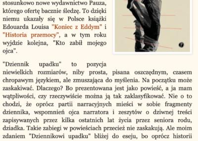 """Czytam, oglądam o powieści """"Dziennik upadku"""""""