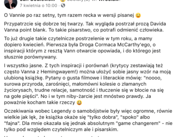 """Jan Godlewski o """"Legenda o samobójstwie"""""""