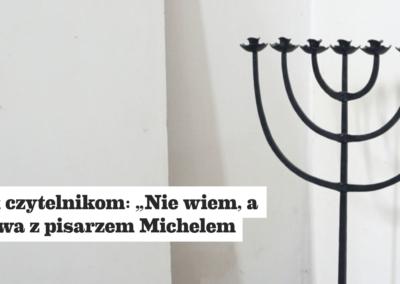 """Przekrój o powieści """"Dziennik upadku"""" – wywiad z Michelem Laubem, autorem powieści"""