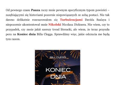 "Qbuś Pożera Książki o ""Koniec dnia"""