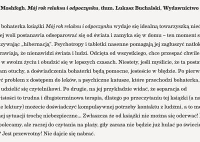 """""""Mój rok relaksu i odpoczynku"""" w zestawie najlepszych książek na kwarantannę według kwartalnika Przekrój!"""