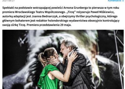 """Wroclaw.pl o premierze spektaklu opartego na powieści """"Tirza"""""""