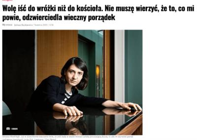 """Wyborcza o """"Mój rok relaksu i odpoczynku"""" – wywiad z Otessą Moshfegh, autorką powieści"""