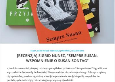 "Zdaniem Szota o ""Sempre Susan"""