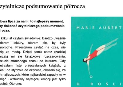 """""""Dorośli"""" w zestawieniu najlepszych książek półrocza według Kulturalnej dzielnicy"""