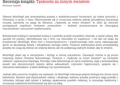 """Granice.pl o """"Tęsknota za innym światem"""""""